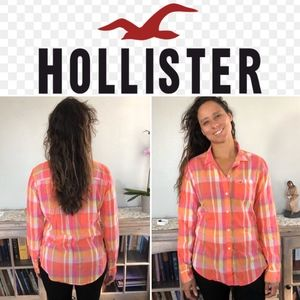 Hollister Plaid Button Down Top